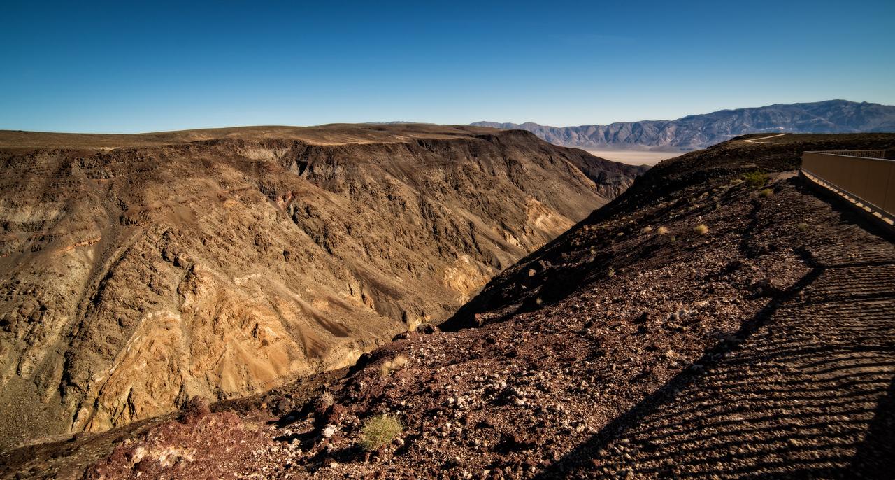 scenic overlook looking toward Death Valley California