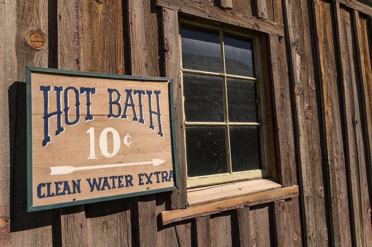 Old west bath sign