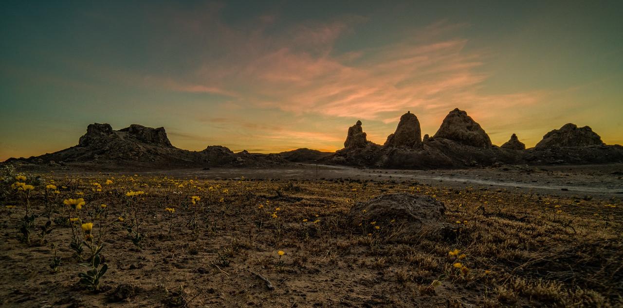 Sunset Trona Pinnacles